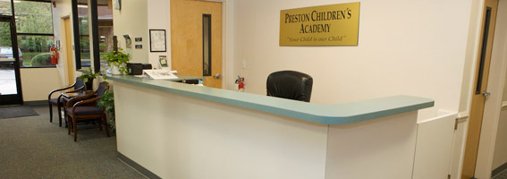 front lobby at preston childrens academy